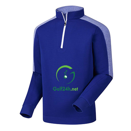 Áo gôn FJ Rib FZ Midlayer w/ Sleeve Stripe Royal & Heather Royal w/ White (95229)